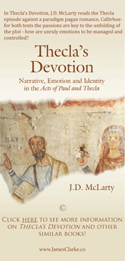 Advertisement - Thecla's Devotion - J.D. McLarty